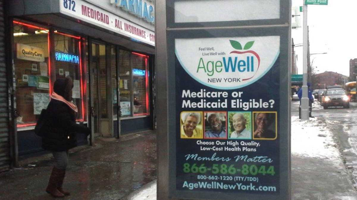 AgeWell NYC Bus Stop Shelter Ads