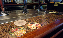 Bar and Restaurant Coaster Advertising