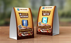 Bar Ads And Restaurant Ads In Cities - Bar table tents