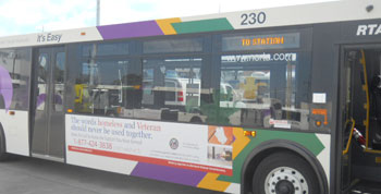 Bus Exterior Advertising - Blue Line Media