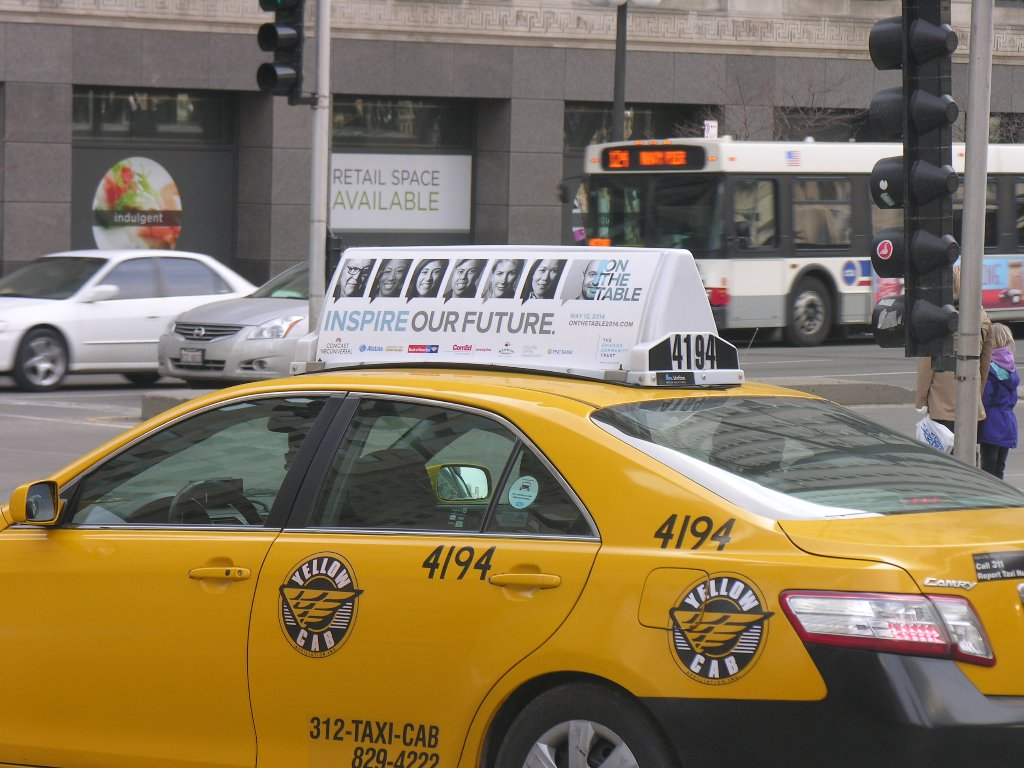 Chicago taxi advertising