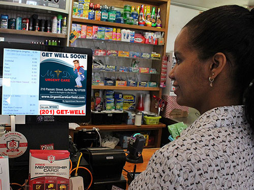 Digital Convenience Store Point of Sale Cash Register Walkup Advertising