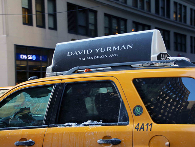 David Yurman NYC Taxi Ads
