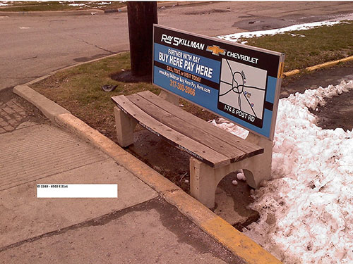 Indianapolis Bench Advertising
