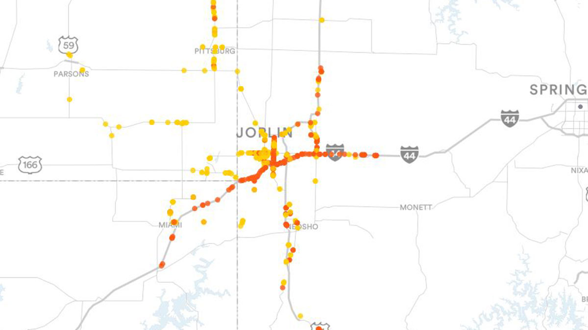 Joplin, MO Billboards Map