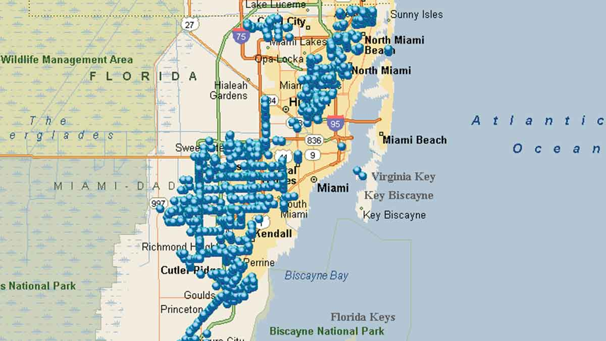Miami Benches Map