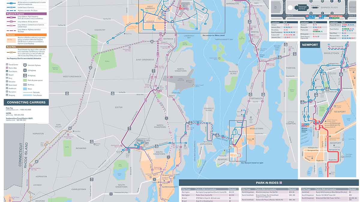 Providence Bus Routes Map