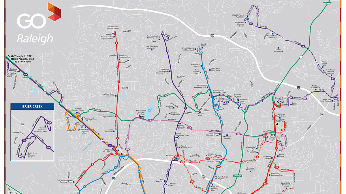 Raleigh-Durham Bus Routes Map