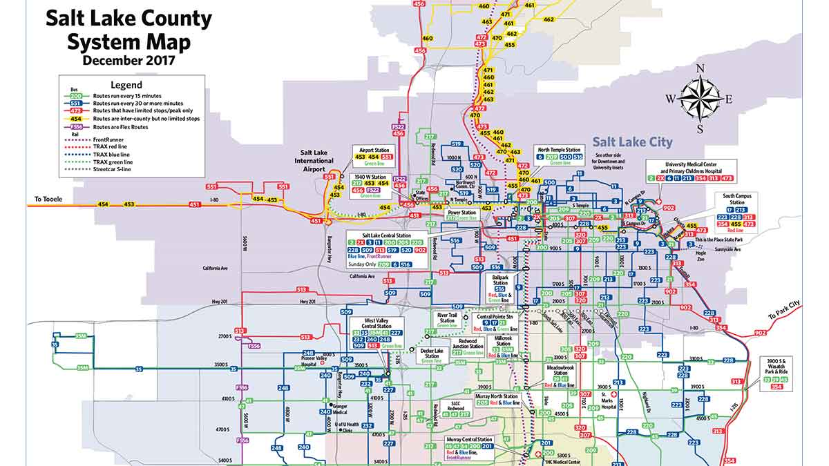 Salt Lake City Bus Routes Map