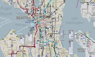 Seattle Bus Routes Map - Central