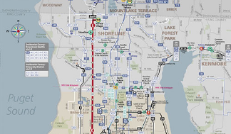 Seattle Bus Routes Map - Northwest