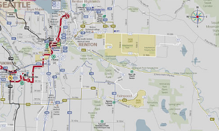 Seattle Bus Routes Map - Southeast