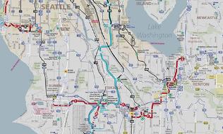 Seattle Bus Routes Map - Southwest