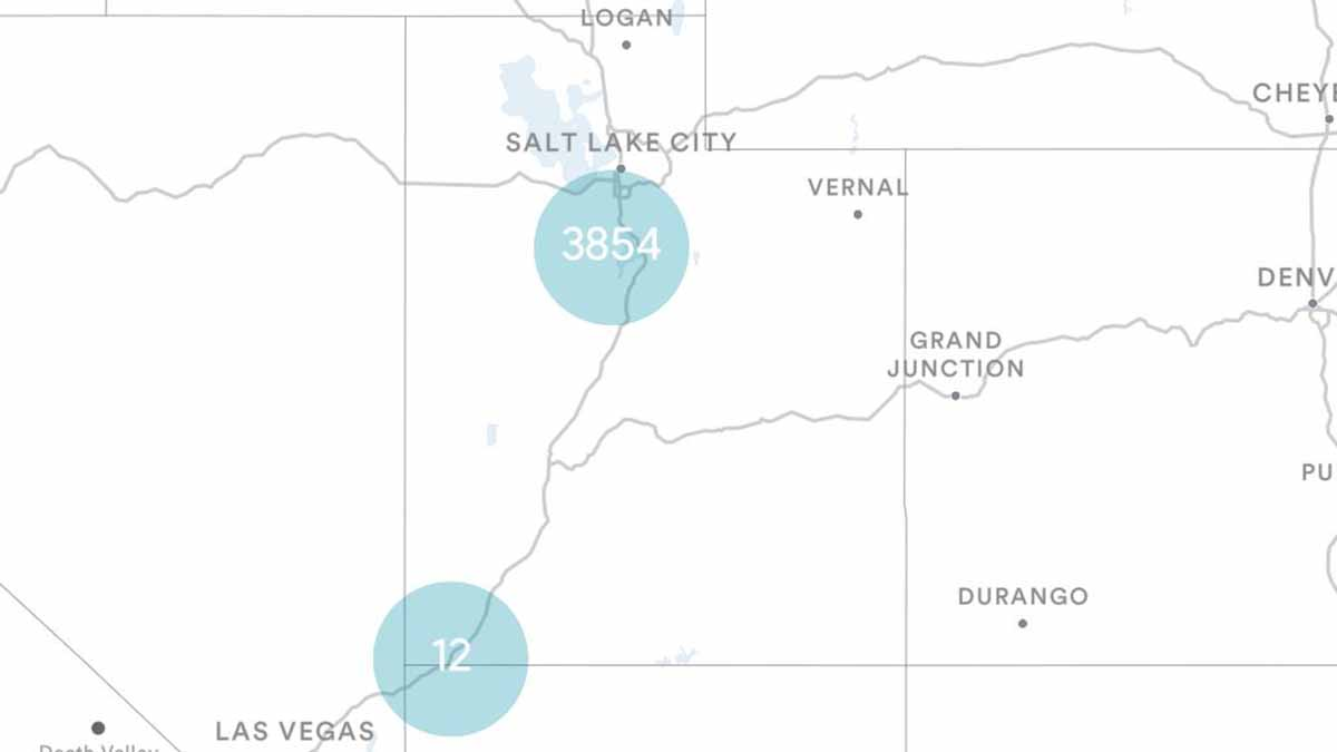 Utah (UT) Billboards Map