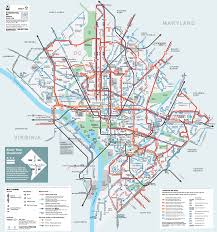 Washington, DC Bus Routes Map