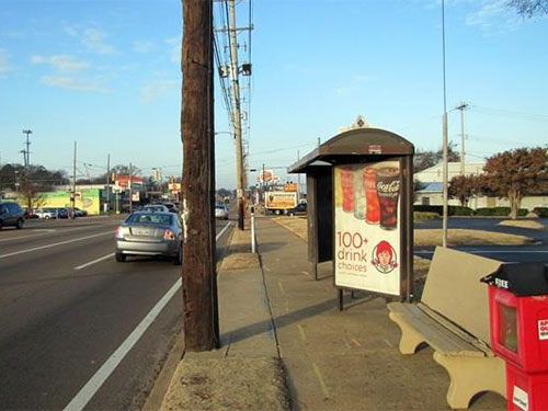 Memphis Bus Stop Shelter Advertising