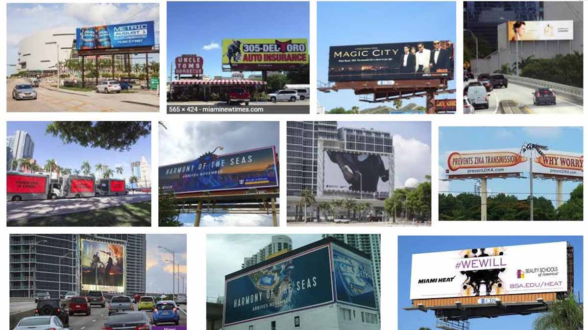 Miami, FL and Ft Lauderdale Billboards