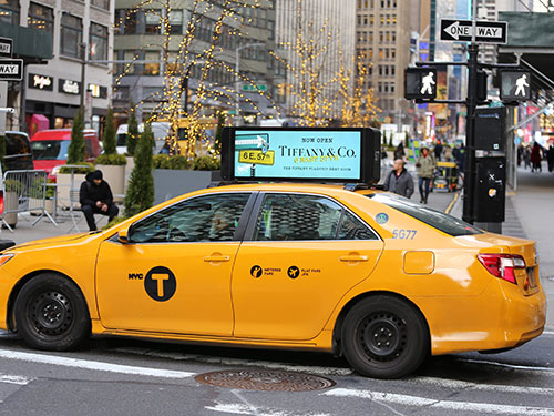 NYC Digital Taxi Top Advertising