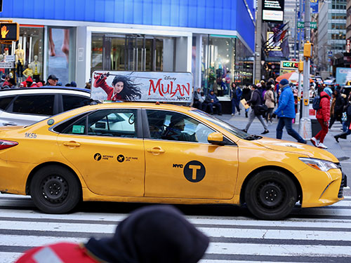 NYC Taxi Top Advertising
