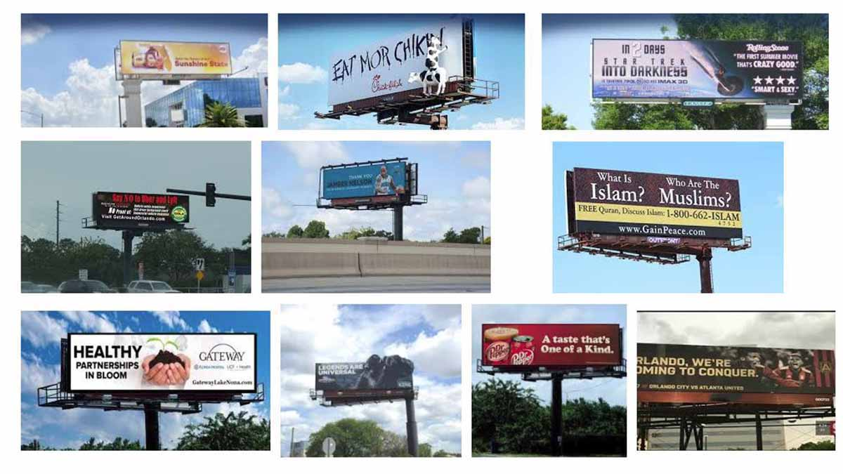 Orlando, Daytona Beach and Melbourne, FL Billboards