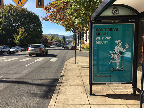 Portland Bus Stop Shelter Advertising