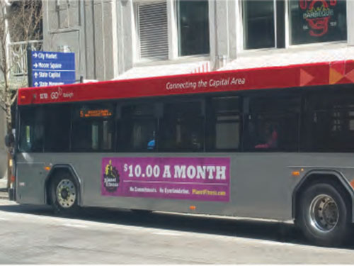 Raleigh-Durham Bus Advertising
