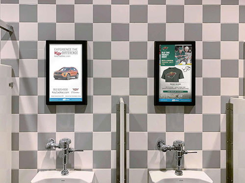 Restroom Digital/LED/Video Advertising