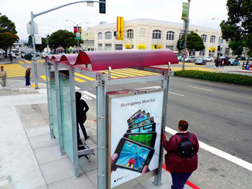 San Francisco Outdoor Advertising Bus Stop Shelter Ad
