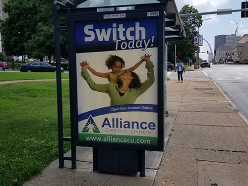 St Louis Bus Stop Shelter Advertising