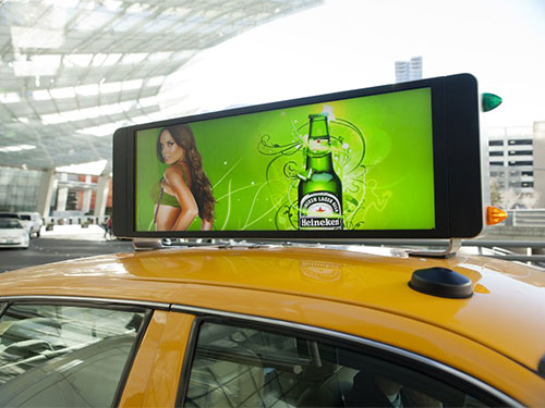 Digital/Video/LED Taxi Advertising